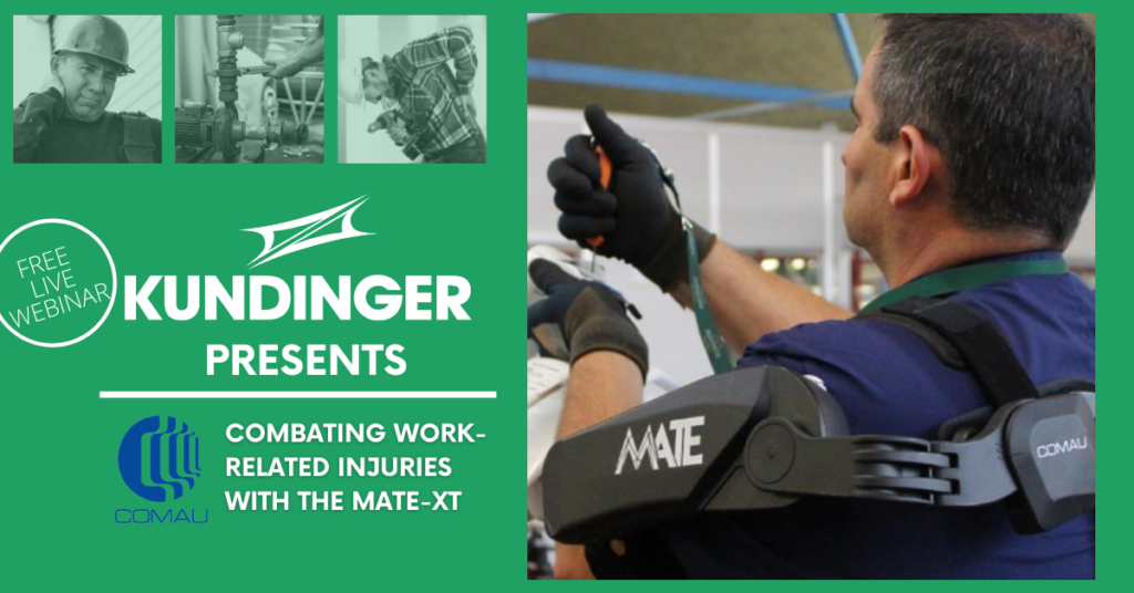 Kundinger Presents Combating Work-Related Injuries with the MATE-XT.