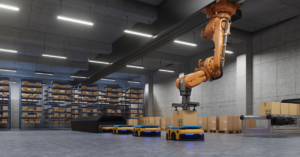Robot offers benefits in manufacturing setting.